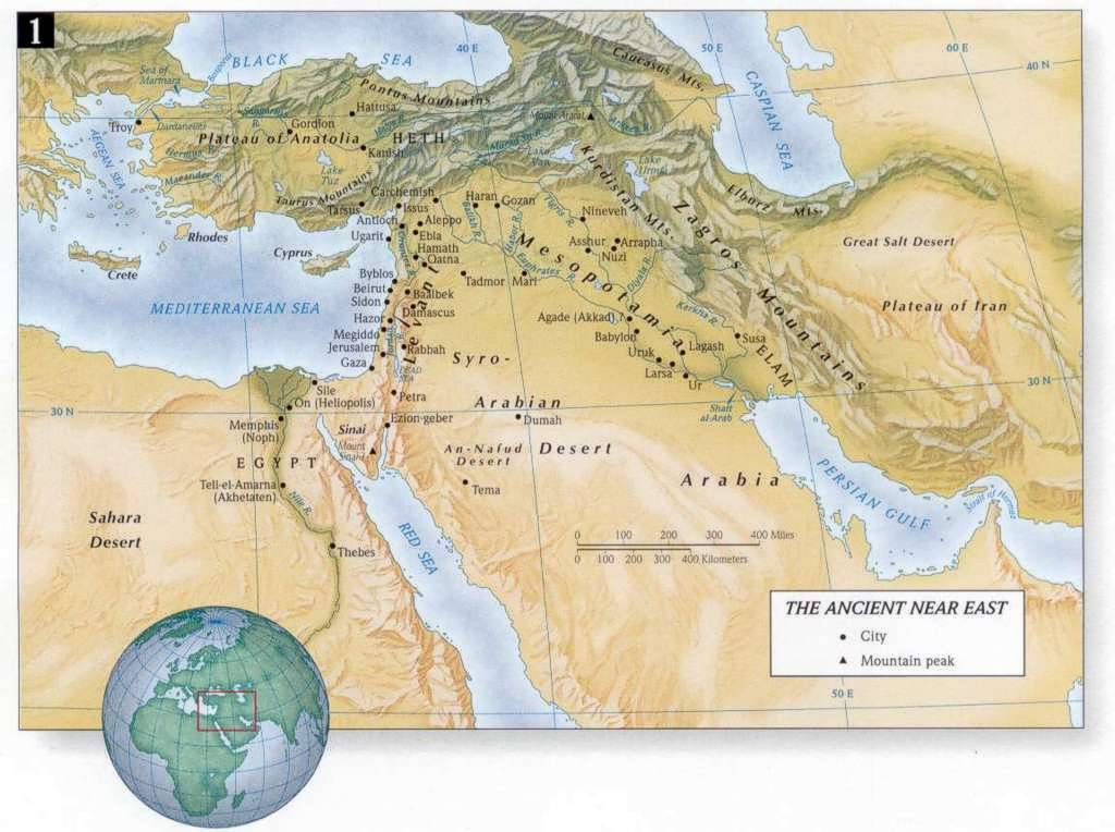 Bible land maps new testament christians the face of the ancient near east the ancient near east gumiabroncs Image collections