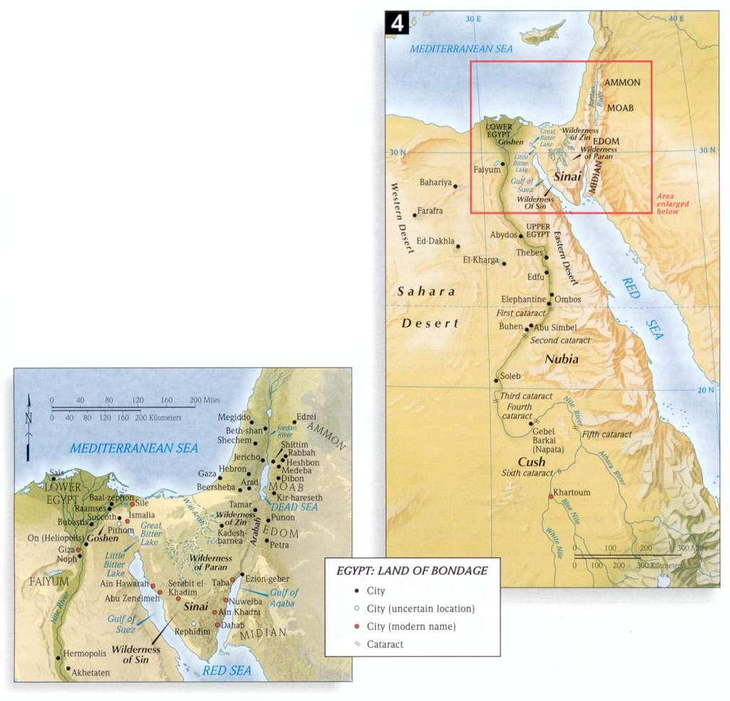 Bible land maps new testament christians egypt land of bondage gumiabroncs Image collections